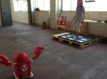 Super cool interactive Makey the Robot game by Koldo Santiesteban