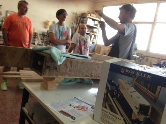 Wood bending workshop with Tuomas Kuure