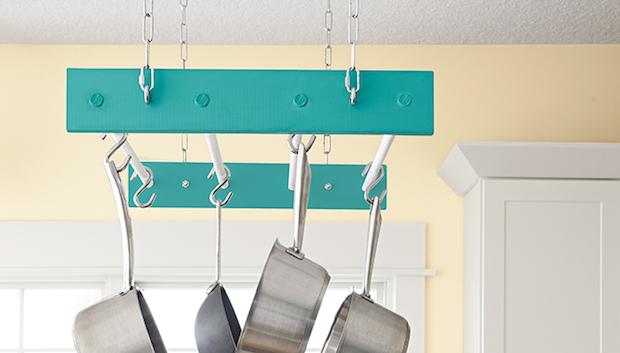 How-To: DIY Hanging Pot Rack