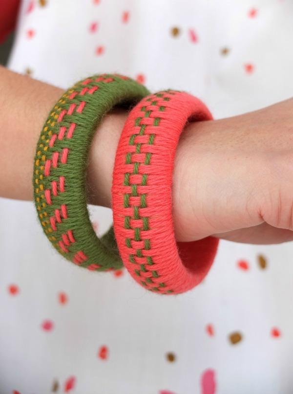 How-To: Woven Yarn Bangle Bracelets