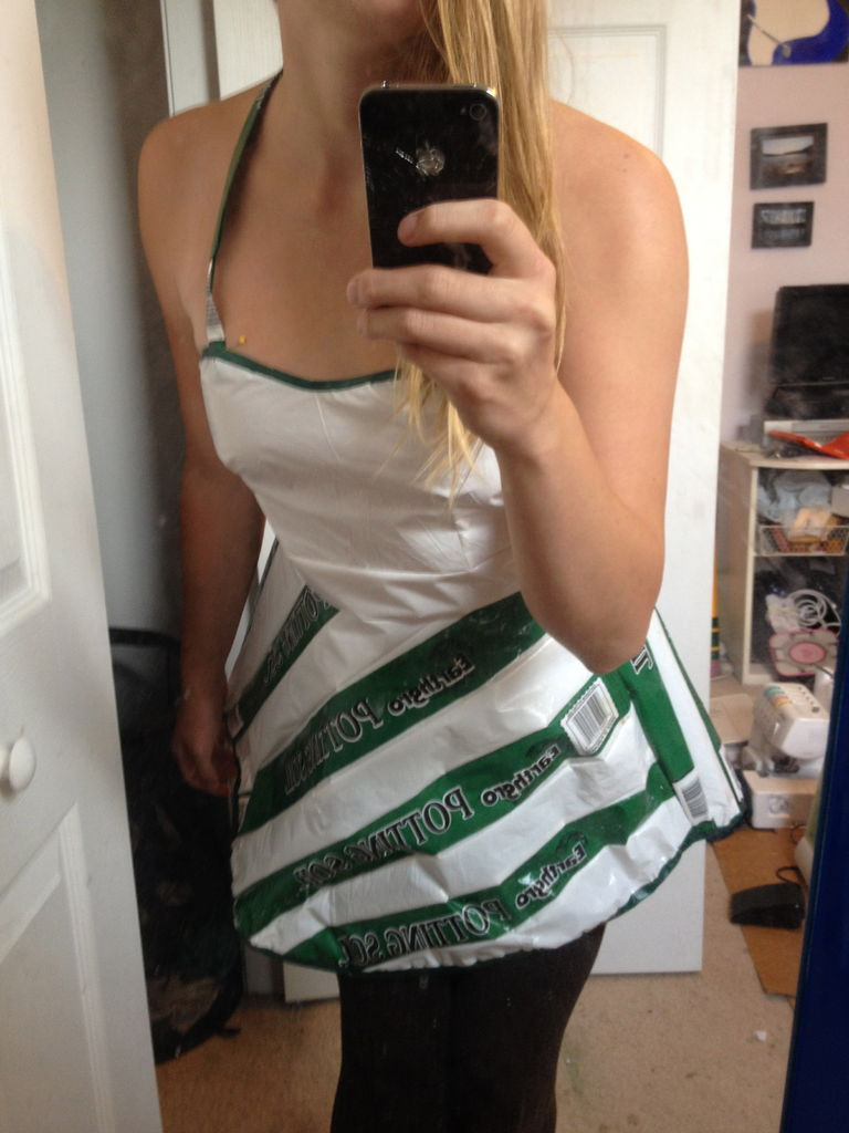 How-To: Potting Soil Bag Dress