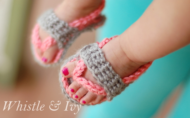 How-To: Crochet Sandals for Babies