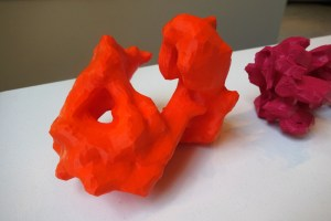 Scholar's Stones by Christopher Manzione. Clearly 3D-printed to you and me, but to someone new to the tech - or even me for that matter! - they look like fanciful formations extracted from some extra-terrestrial asteroid.