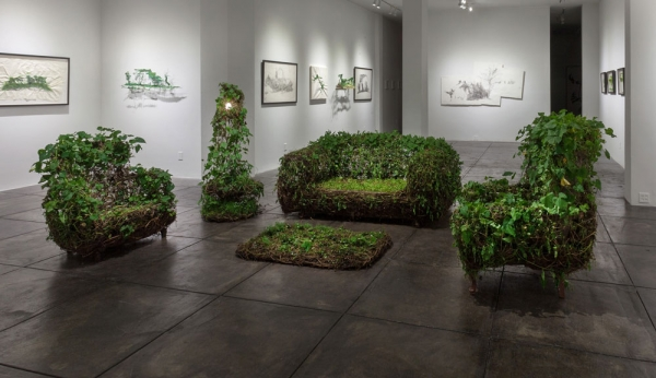 """""""Living Room"""" Furniture Made From Live Plants"""