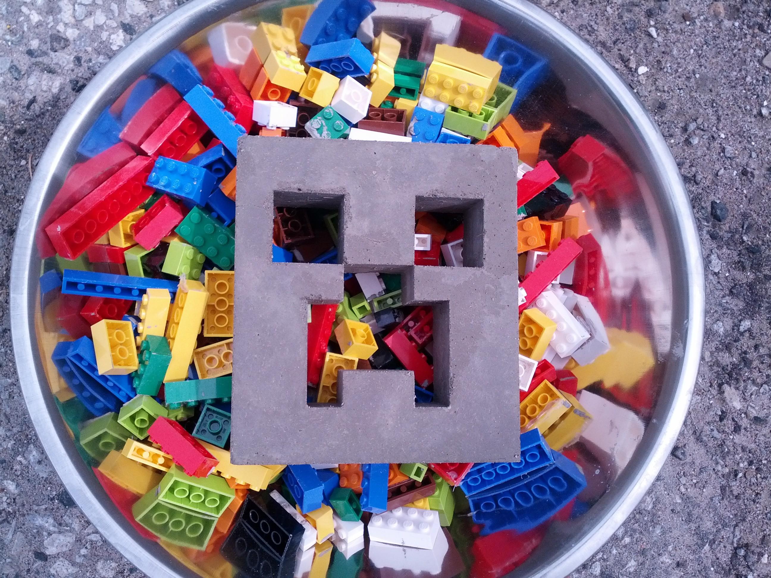 How-To: Concrete Casting with Lego Bricks