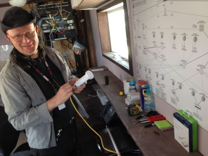 Ralf Muehlen, master of the network at Burning Man network (note map)