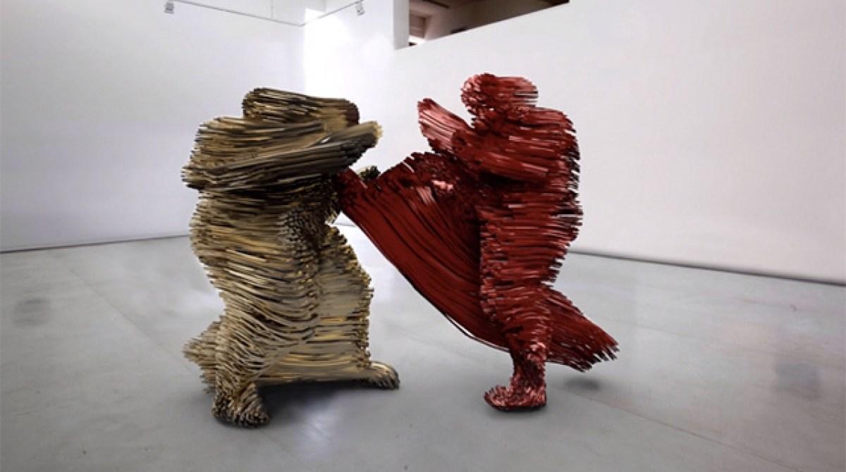 3D Printed Combat Motion Sculpture