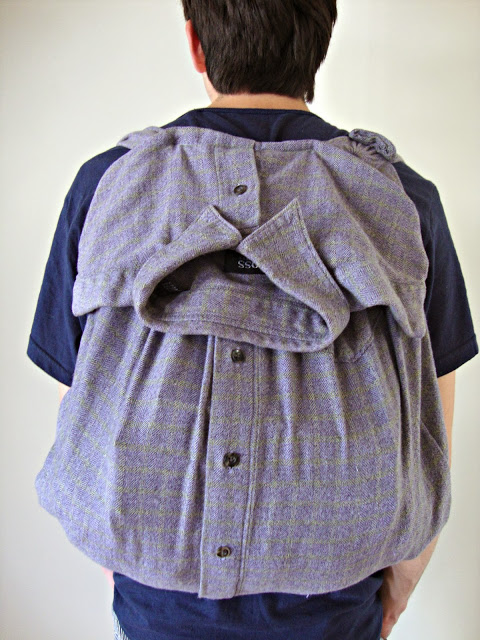 DIY Shirt Backpack