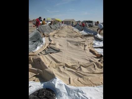 Theme camp tent erection: 11 a.m.