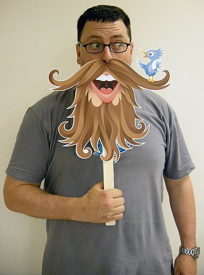 Free Printable: Twitter Beard Photo Prop