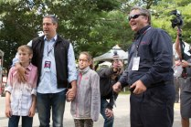 Congressman Tim Ryan from Ohio arrives with his family and is welcomed by Make: founder Dale Dougherty.