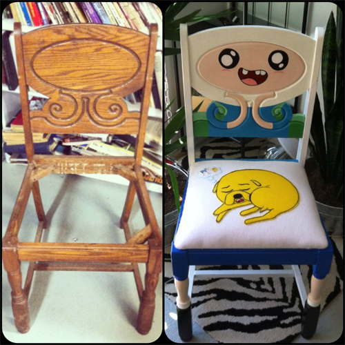 Upcycled Adventure Time Chair
