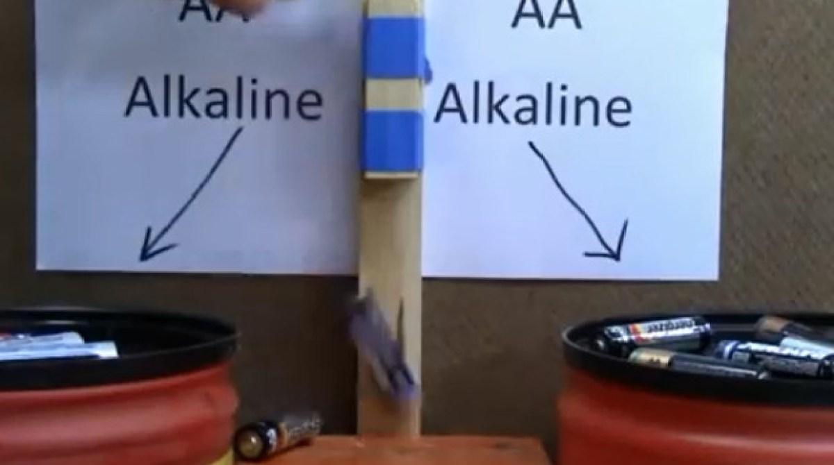 Why Do Dead Alkaline Batteries Bounce?