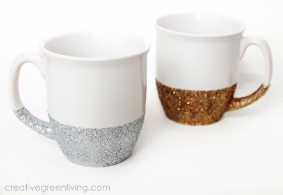 How-To: Dishwasher-Safe Glitter Mugs