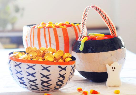 How-To: Papier-Mâché Halloween Candy Bowls