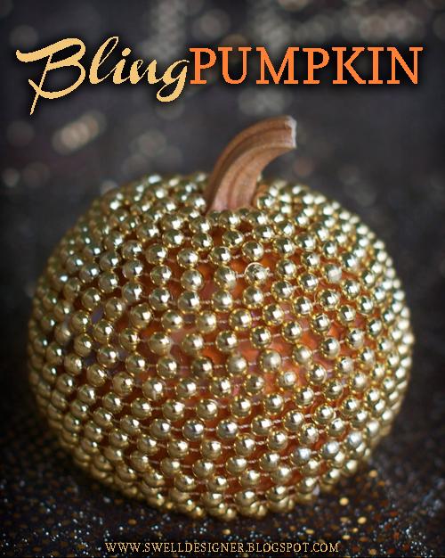How-To: Gold Bling Pumpkin