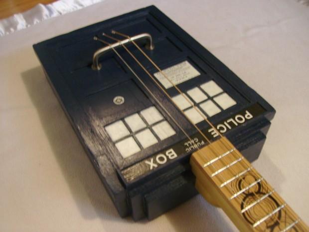 TARDIS Cigar Box Guitar