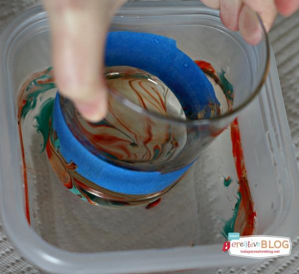 How-To: DIY Marbled Glassware Using Nail Polish