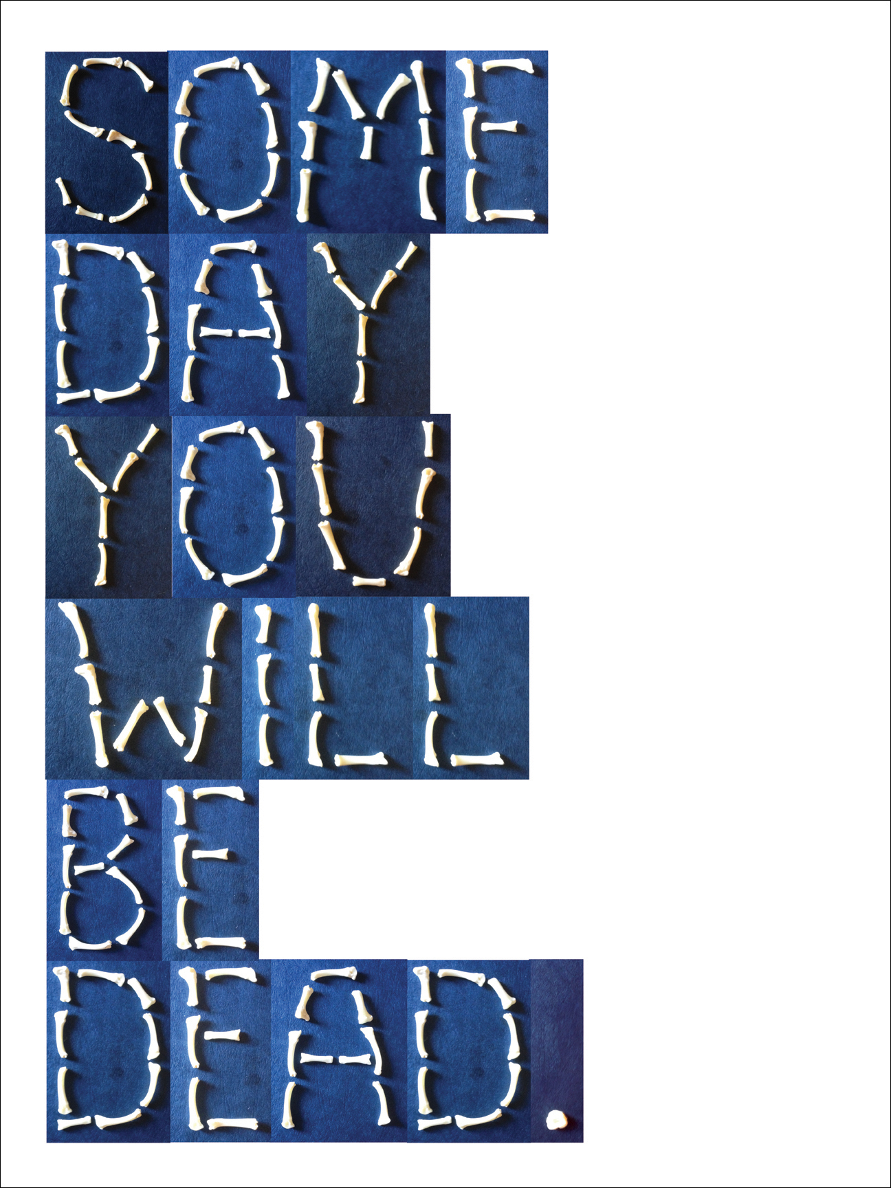 Some Day You Will Be Dead: The Alphabet In Real Bones