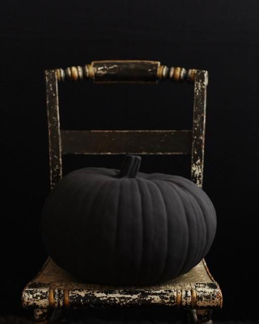 DIY Matte Black Pumpkin