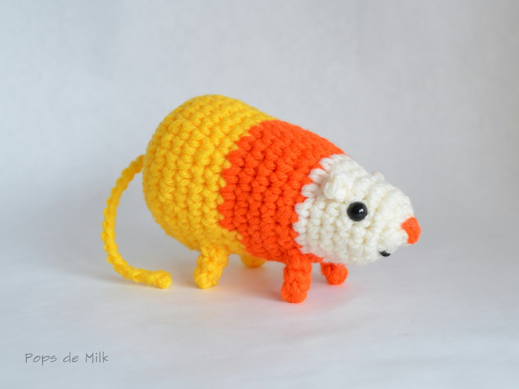 DIY Candy Corn Rat Crochet Pattern