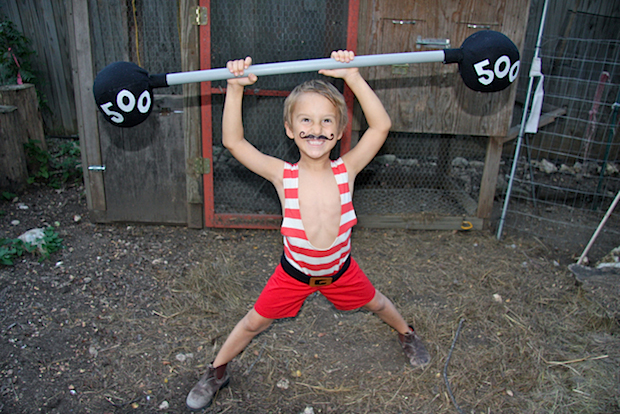 Flashback: Vintage Strongman Kid's Costume