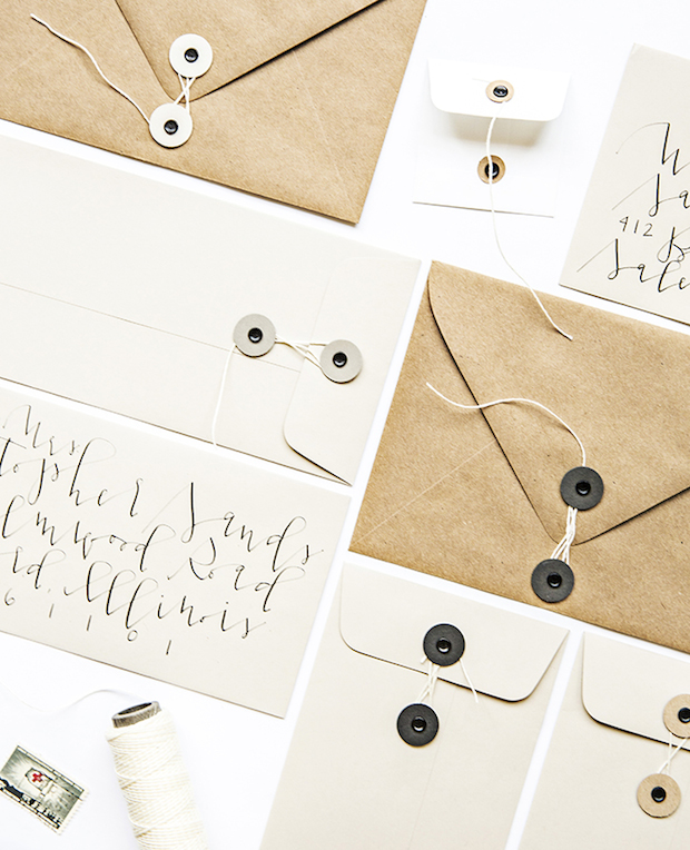 How-To: 2 Ways to Make Button and String Envelopes