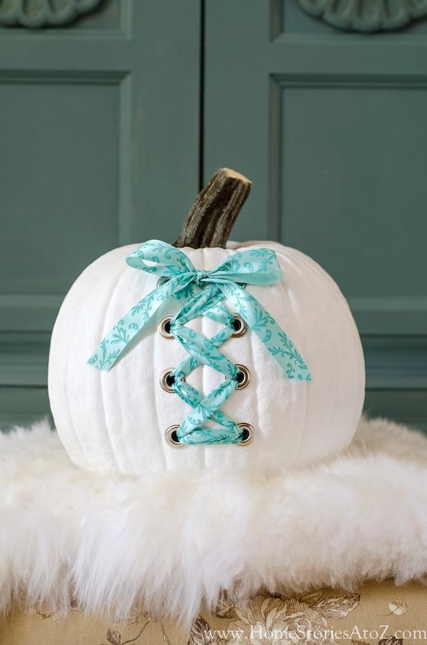 How-To: White Corset Pumpkin