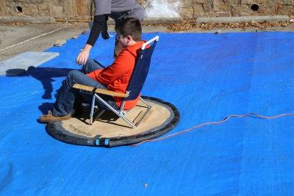 Kids loved the DIY hovercraft