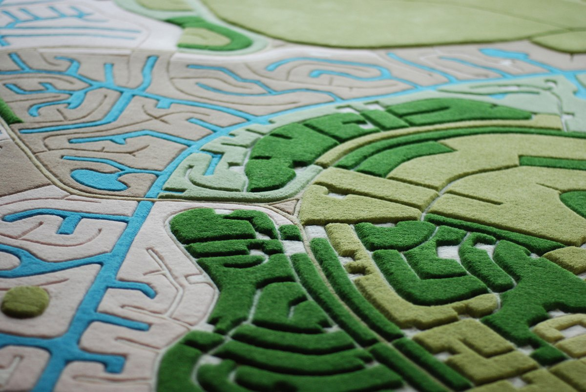 Rugs Made From Aerial Photographs