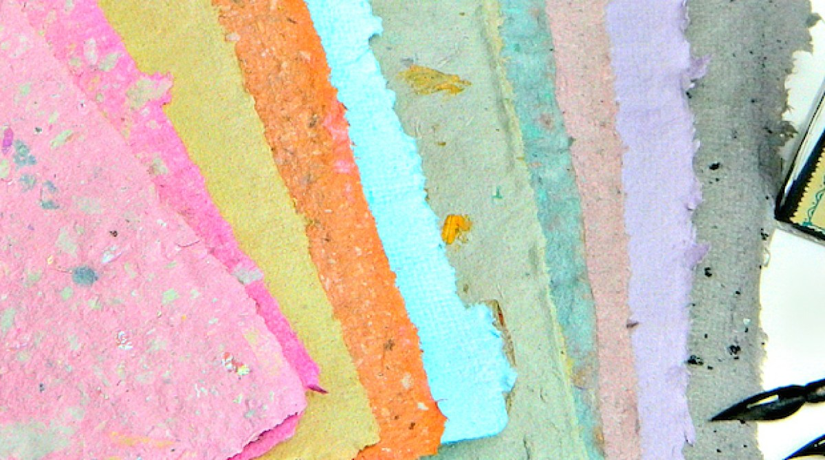 How To: Beautiful Handmade Paper in Custom Colors