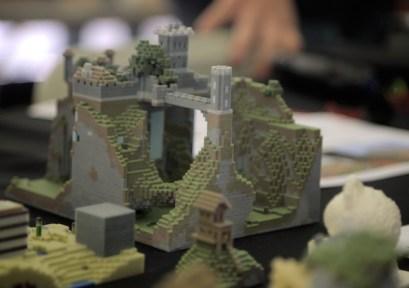 "A popular ""Mineways"" display showed how to make Minecraft real. (photo: Joshua Ramos)"