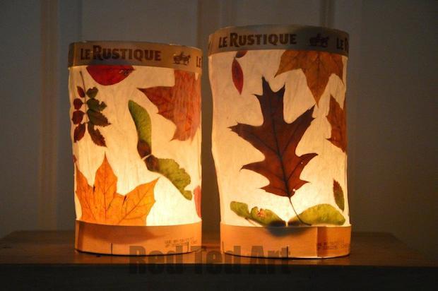 Kid Craft: Autumn Leaf Lanterns
