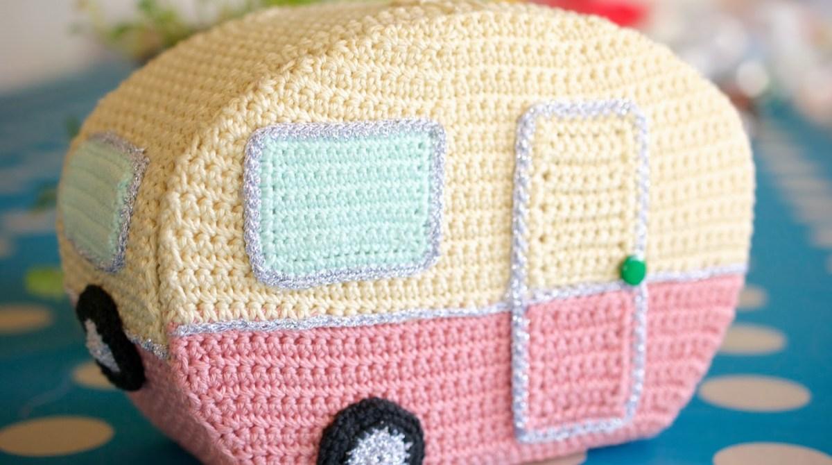 Homemade Crocheted Vintage Caravan and Mini Caravan Pattern