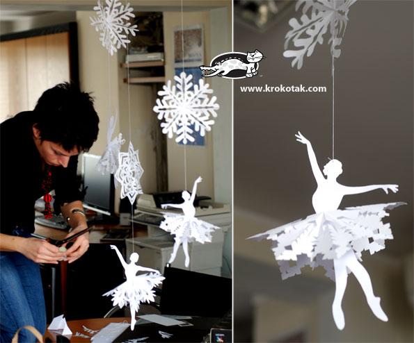 How-To: Paper Snowflake Ballerina