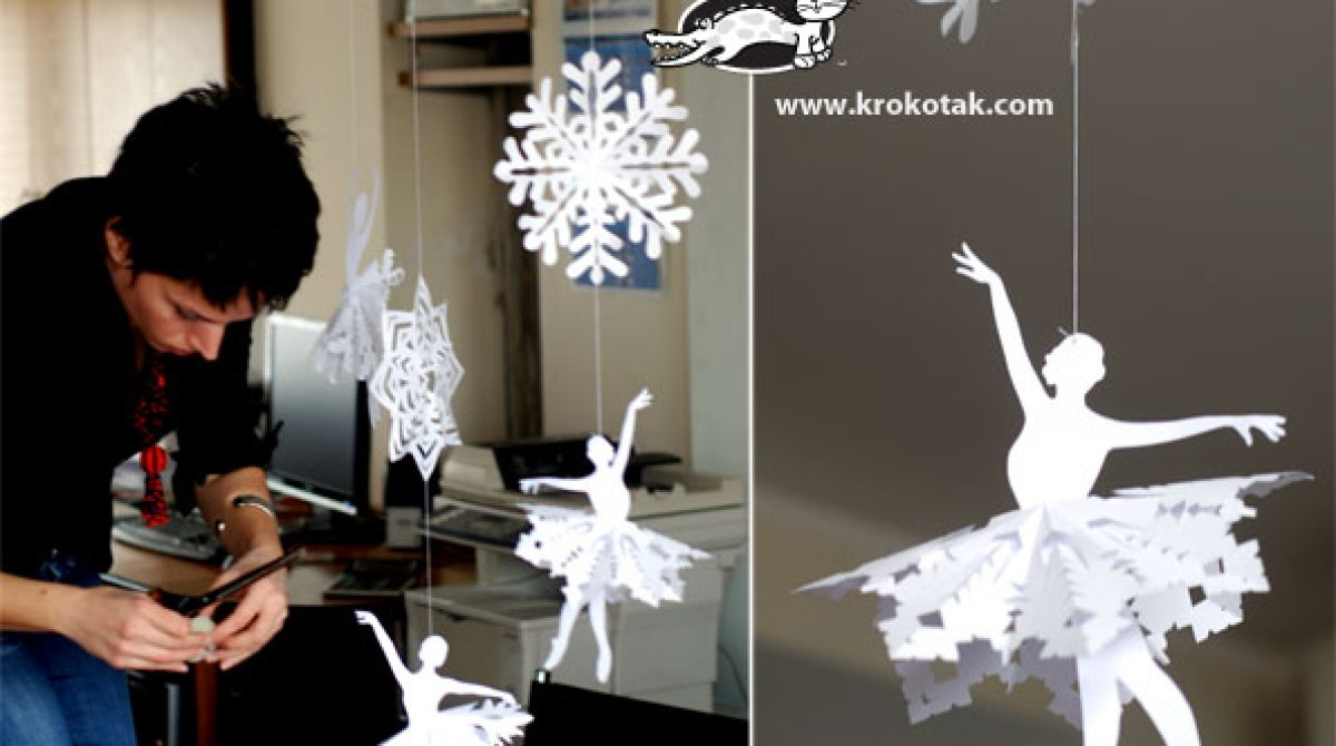 How-To: Paper Snowflake Ballerina