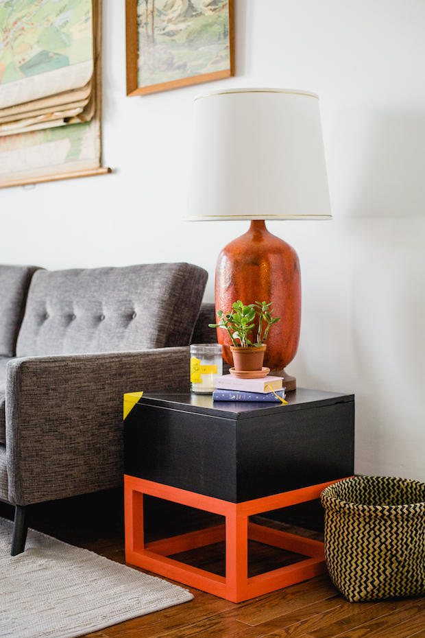 How-To: Cubed End Table with Hidden Storage