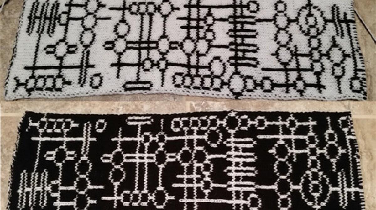 Alien Glyph Double Knit Scarf Pattern Make