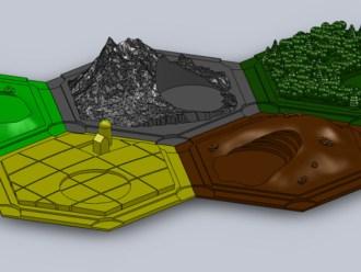 3D Catan Terrain Pieces
