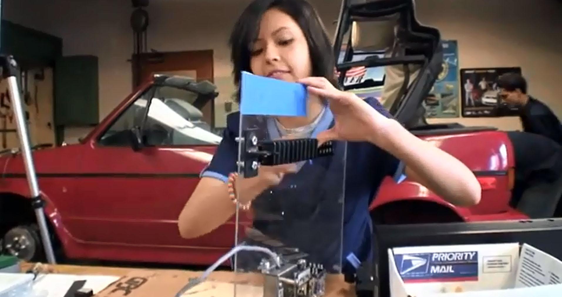 High Schoolers Electrify a Volkswagen Cabriolet