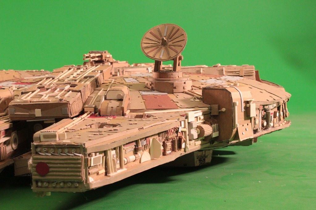 Star Wars Fan Creates Insanely Detailed Cardboard Millennium Falcon