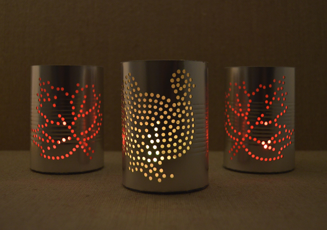 How-To: Faux Tin Can Luminaries from Paper