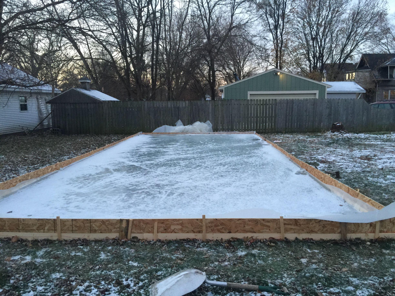 DIY Backyard Ice Rink Make - Ice rink in backyard