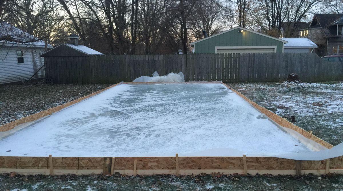 DIY Backyard Ice Rink