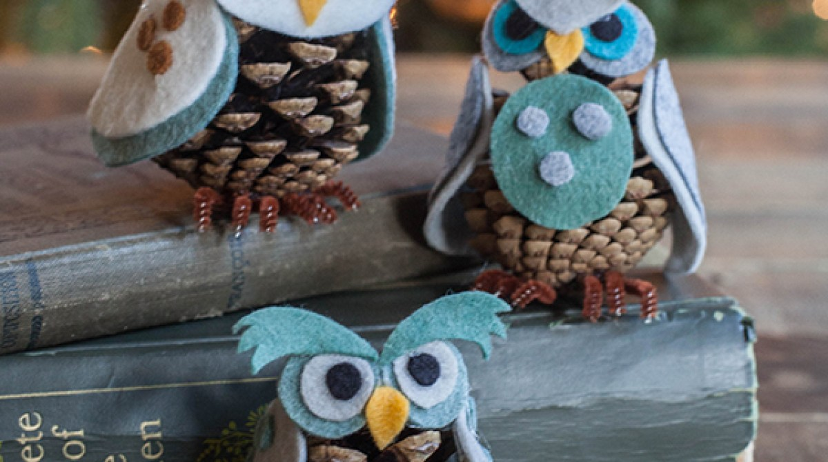 How-To: Pinecone Owls