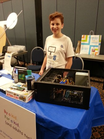 """""""PCsForMe"""": another of our outstanding young Makers is Ethan Saadia, a Maker Faire veteran who started his own company """"PCs for Me"""" at age 11. He designed and offers kits to build PCs, """"by kids, for kids (and adults too)""""."""