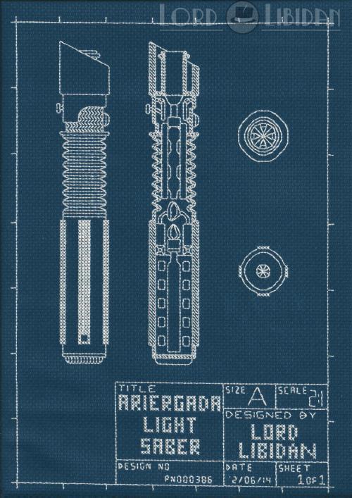 Lightsaber Blueprint Embroidery