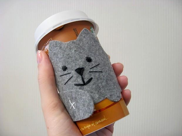 How-To: Felt Kitty Cat Cup Sleeve