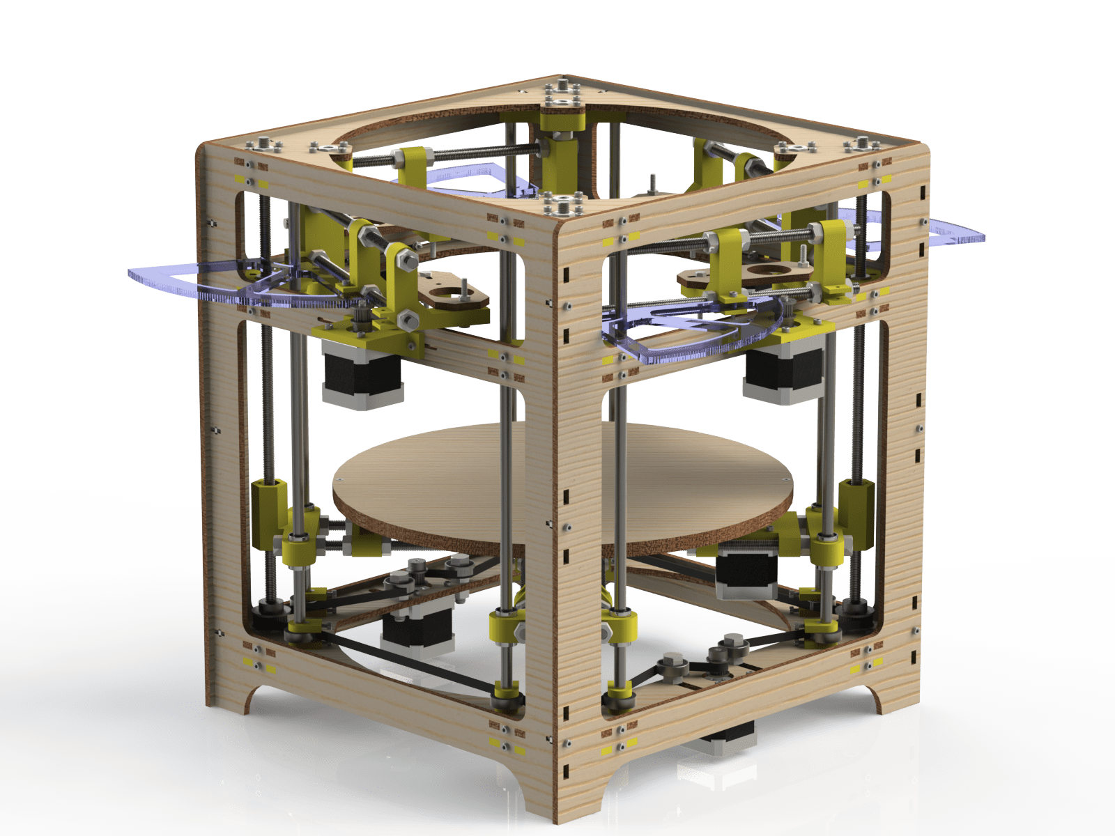 The Theta 3D Printer: 4 Extruders On A Polar Coordinate System