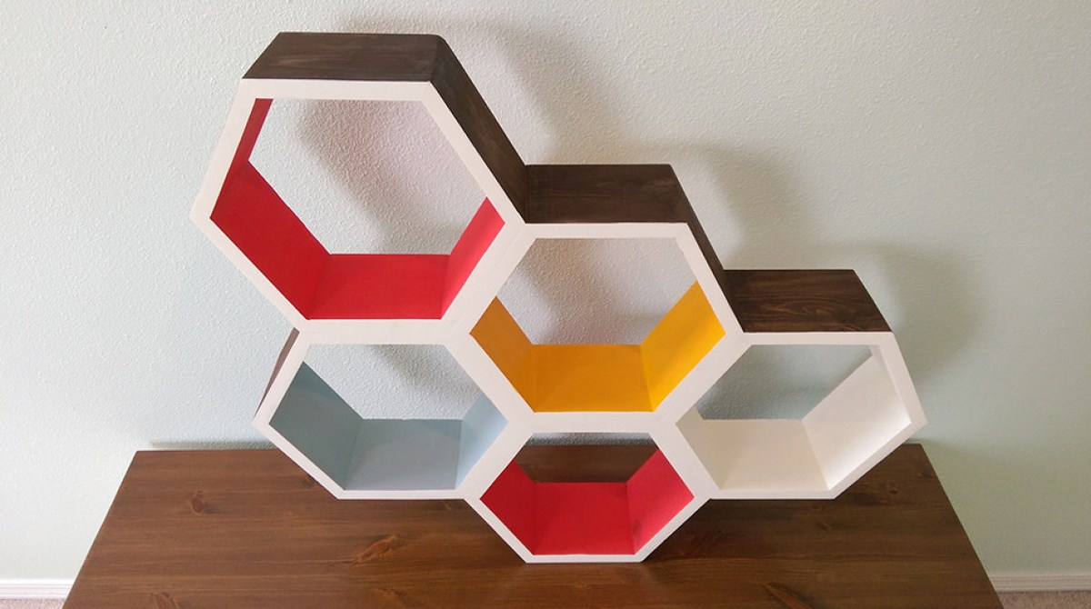 shelves honeycomb decor bookshelf fabulous use in to patterns home ways